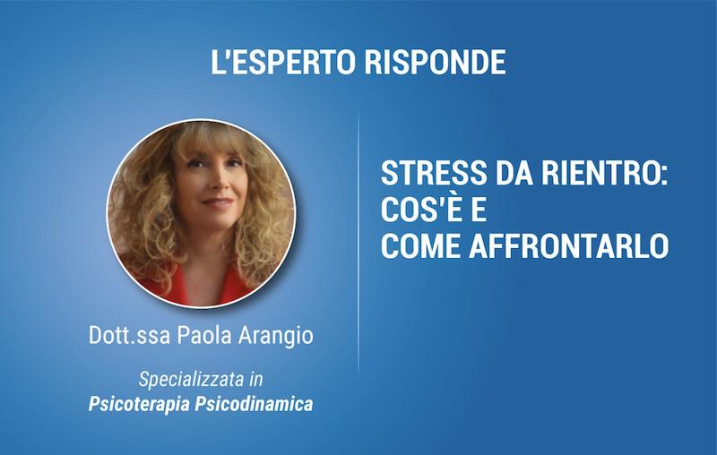 Dott.ssa Paola Arangio Stress Da Rientro